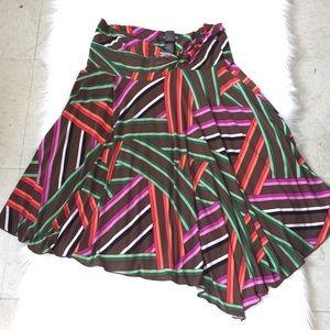 Bisou Bisou Colorful Stripes Women'Skirtt, Size L